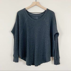 We The Free Oversized Knit Thermal Gray Size Small